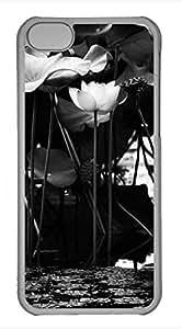 Brian114 iPhone 5C Case - Lotus Hard Clear iPhone 5C Cover, iPhone 5C Cases, Cute iPhone 5c Case