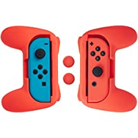 AmazonBasics Grip Kit for Nintendo Switch Joy-Con Controllers (Red)
