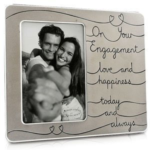 love happiness on your engagement photo frame - Engagement Picture Frame