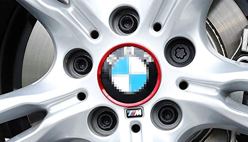 luluda 4X 50mm 56mm 60mm for Fiat Abarth Badge Logo Carbon Center Caps Alloy Wheel Hub Stickers