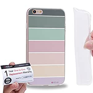 """Case88 [Apple iPhone 6 / 6s Plus (5.5"""")] Gel TPU Carcasa/Funda & Tarjeta de garantía - Art Coloured Doodle Patterns Pastel Palette"""