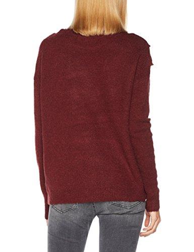 Ls Boatneck Zinfandel Moda Femme Blouse Vmnovato Vero Pull Rouge EqxawFqn
