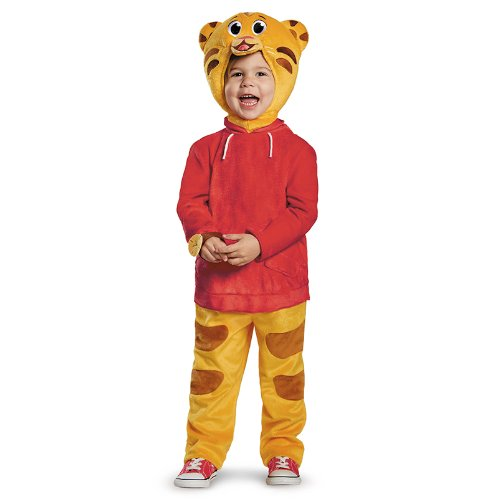 Tiger Jumpsuit Costumes (Daniel Tiger's Neighborhood Daniel Tiger Deluxe Toddler Costume, Large/4-6)