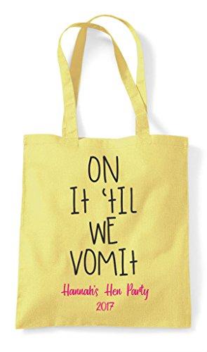 On Bag Customised Do We Til Hen Lavender Tote It Vomit Party Personalised Shopper FfTWEqp