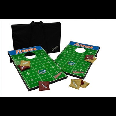 NCAA 10 Piece Cornhole Game Set NCAA Team: Florida Gators by Tailgate Toss