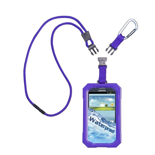 Iii Dri Cat (DRI CAT 11061P-C31 Neck It Waterproof Case with Lanyard for Samsung Galaxy S III - 1 Pack - Retail Packaging - Purple)