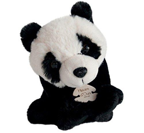 Peuches et Doudous Doudou Genre : b/éb/é fille ou gar/çon Noir et blanc Taille : 15 cm assis Peluche Panda Histoire dOurs