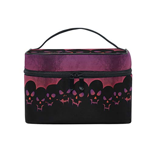 Halloween Grisly Skull Makeup Bag for Women Cosmetic