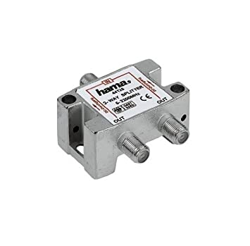 Hama 75044126 Divisor de señal para cable coaxial Plata cable divisor y combinador - Splitter/