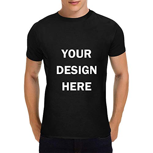 (CADE Men's Custom T Shirts Ultra Soft 100% Cotton Add Design Yourself Adult/Youth Personalized Printed T Shirt Black)