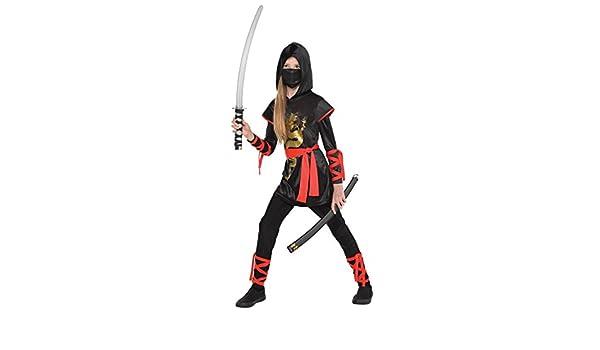 Niños Disfraz - Ninja Girl - Tamaño 158 cm (12 - 14 años ...