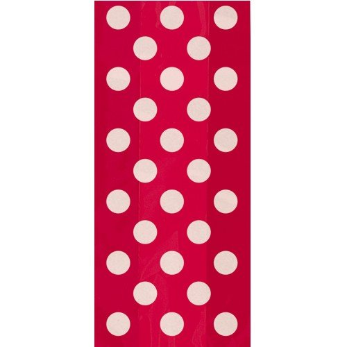 Red Polka Dot Printed Cello Bags (20ct), Health Care Stuffs