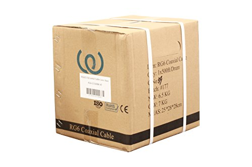 500 Rg6 Coaxial Cable (Coaxial Cable RG6 500ft 18 AWG Bulk (BLACK) - WireShopper)