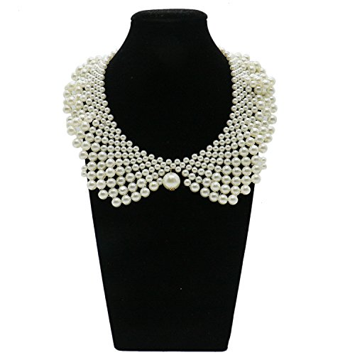 Pearl Acrylic Necklace (IDS False Collar Necklaces Romantic Necklaces with Artificial Pearl for Women Clothing DIY Craft Supply)