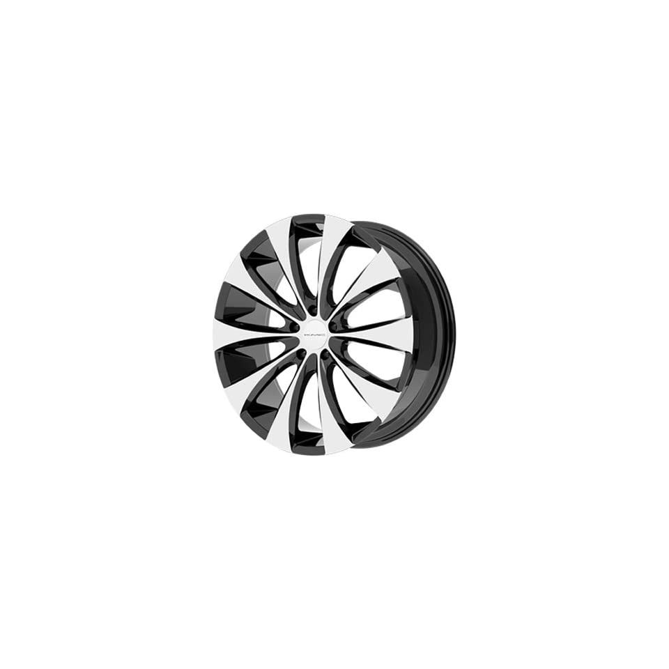 KMC KM679 18x8 Machined Black Wheel / Rim 5x4.5 with a 15mm Offset and a 72.60 Hub Bore. Partnumber KM67988012315