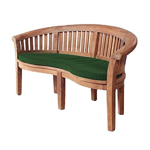 Green Water Resistant Curved Banana Bench Cushion *Bench not included* Gardenista