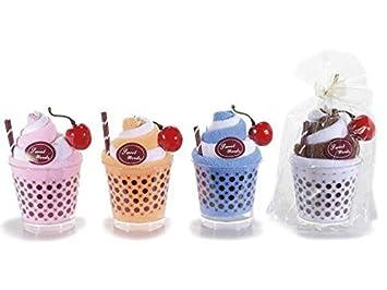 Idea Jabones decorativas para Bomboniere, toallas BOMBONIERA 8, copas helado, idee regalo, idee para Bomboniere Fai Date, tarjetas: Amazon.es: Hogar