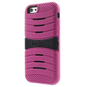 MTP iPhone 6 / 6S 4.7 Carcasa Hybrid con Soporte, Cover, Case, Con Función de Soporte - Rosa Fuerte