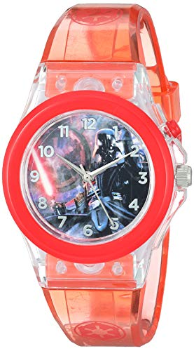 Star Wars Analog-Quartz Watch with Silicone Strap, red, 20 (Model: DAR3653)