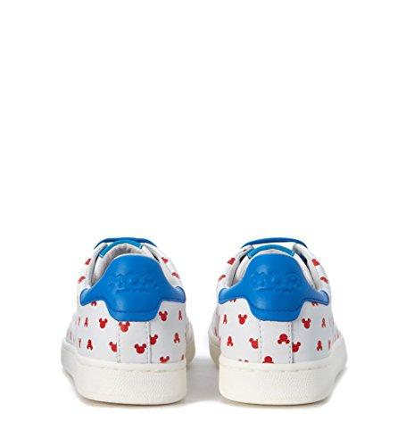 Moa Maestro Delle Arti Donna Moa Mini Mickey Mouse Sneaker In Pelle Bianca Bianca
