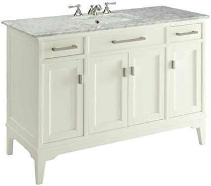 Amazon Com 49 Modern Style Orson Bathroom Sink Vanity W Carrara Marble Top Soft Close Gd6606 49 Kitchen Dining