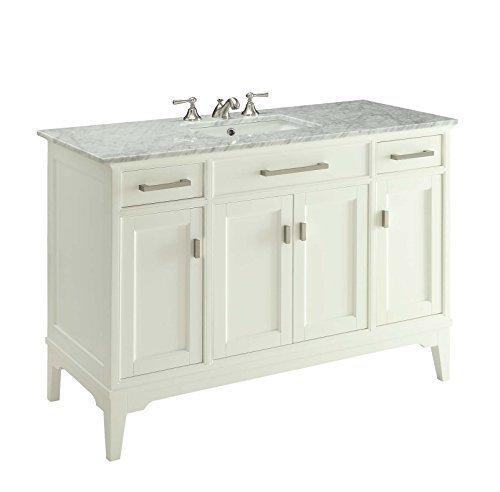 "49"" Modern Style Orson Bathroom sink Vanity w/ Carrara Marble Top Soft Close- GD6606-49"