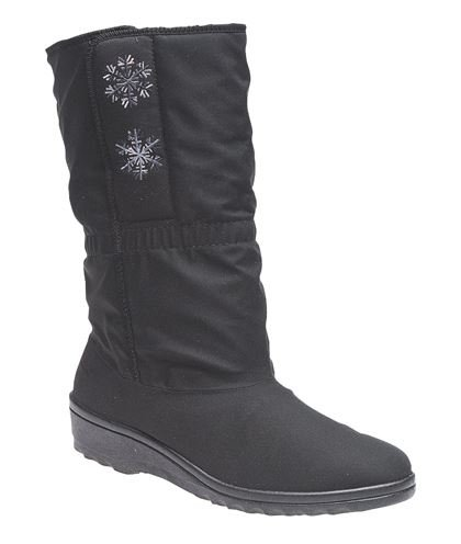 amp; Touch Side Breathable Opening Fastening BOOTS Waterproof Ladies Calf Boots To BLIZZARD qTOzEw4xw