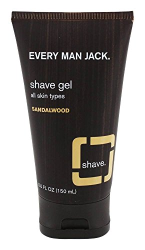 Every Man Jack Shave Gel - All Skin Types - Sandalwood - 5 Oz - Every Man Jack Shave Gel