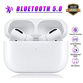 Wireless Earbuds Bluetooth 5.0 Headphones in-Ear Noise Cancelling Bluetooth Earbuds 3D Stereo IPX5 Waterproof Headset with 24H Charging Case for Apple Airpods pro iPhone Android Sport Earbuds