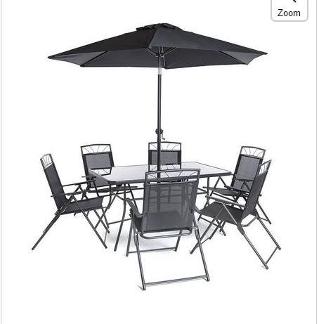 Caseta de jardín Memphis nuevo modelo jardín y patio set - negro (8 ...