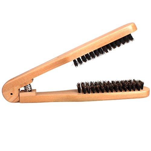 Amariver DIY Salon Hairdressing Hair Straightener Wooden Anti-static Dual-Brush Comb by Amariver (Image #1)