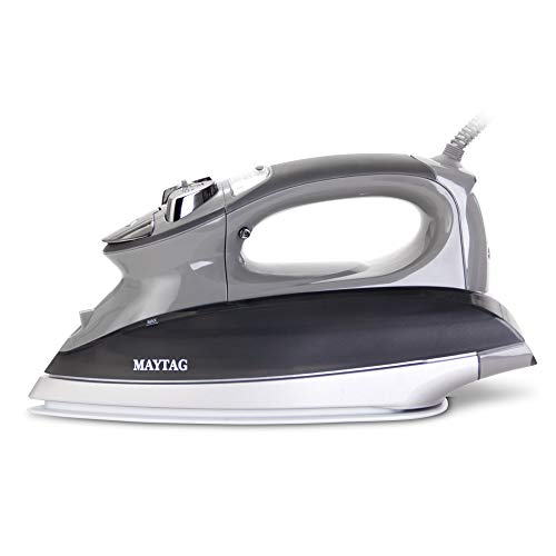Maytag M1200 Digital Smart Fill Steam Iron & Vertical Steamer with Pearl Ceramic Sole Plate, Self Cleaning Function + Thermostat Dial -