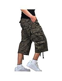 Yollmart Men's Camo Shorts Casual Military Combat Cargo Trouser