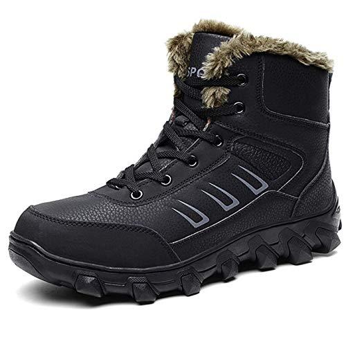 Fodera Boots Gomma In Winter Per Nero Pelliccia L Stivaletti run Uomo Mens Snow Alla Caviglia qxH0pIpwO