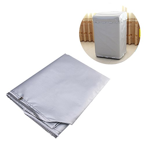 LIOOBO Top Load Washing Machine Cover Automatic Washer and Dryer Cover Waterproof Dustproof Anti-Splash Zippered 586092cm