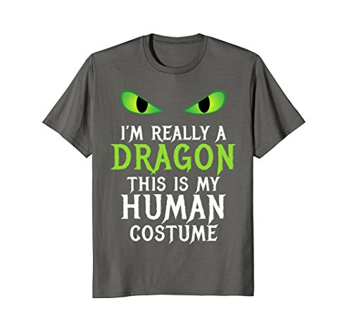 Mens Funny Scary Dragon Costume Halloween Shirt for Women Men Boy Medium -