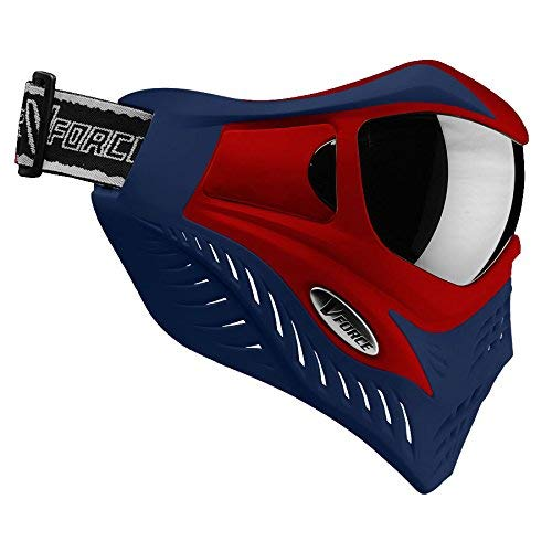 V-Force Grill Thermal Paintball Mask / Goggle - Special Color - Red on Blue by VForce