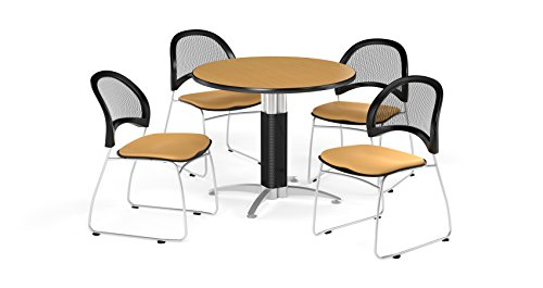 (OFM PKG-BRK-175-0053 Breakroom Package, Oak Table/Golden Flax Chair)