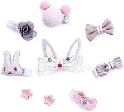 Wansan 9 PCS Corbatas Hair Tie Bow Shape Ribbon Hair Clips Bebe ...