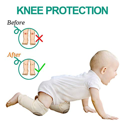 Unisex Baby Toddlers Knee Pads Learning to Walk Anti-Slip Knee 8 Pairs Baby Crawling Knee Pads