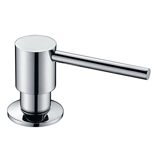 - GICASA Brass Bult in Countertop Soap Dispenser, Kitchen Bathroom Sink Deck Mount Soap or Lotion Pump Dispenser Chrome