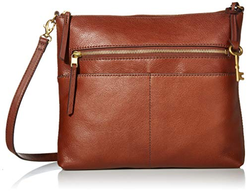 Fossil Large Fiona Leather Cross Body - Brown