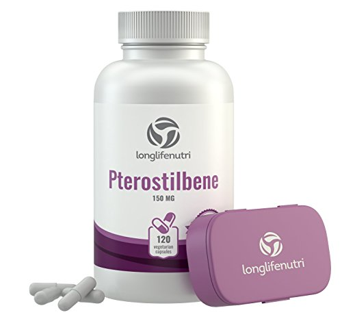 - Pterostilbene 150mg 120 Vegetarian Capsules | Made In USA | Supports Cardiovascular Neurologic Health Promote Healthy Aging Longevity | Antioxidant Anti Inflammatory Supplement 150 mg Pure Powder Pill