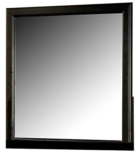 ACME 19504 Louis Philippe III Mirror, Black