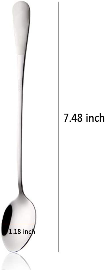 Waful Ice Cream Spoons 7.87In Stainless Steel Engraved His and Her Ice Cream Spoon,Unique Personalized Birthday Gift for Kitchen Dining(2pcs)