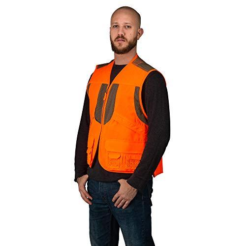 TrailCrest Mens Blaze Orange Safety Deluxe Front Loader Vest, 3X by TrailCrest (Image #5)