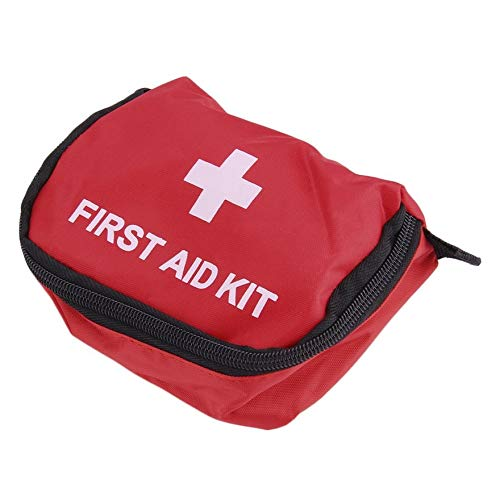 Red First Aid Kit 0.7L Red PVC Outdoors Camping Emergency Survival Empty Bag Bandage Drug Waterproof Storage Bag