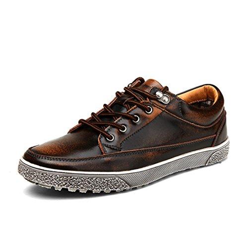 [QIFENGDIANZI]レースアップシューズ メンズ 靴 カジュアルシューズ ウォーキングシューズ コンフォート 屈曲性抜群 衝撃吸収 通勤 発表式 赤 ブルー ブラウン