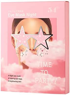 DR.GLODERM Eye Mask Night, a Glitter Hydrogel for Moisturizing & Reducing the Dark Circles, Puffiness and Wrinkles, with a Soothing and Brightening Effect