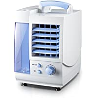 GX&XD Mini portable Single-cold Air conditioner fan,Personal Evaporative coolers Air cooler With dehumidifier and fan Small desktop fan-Blue
